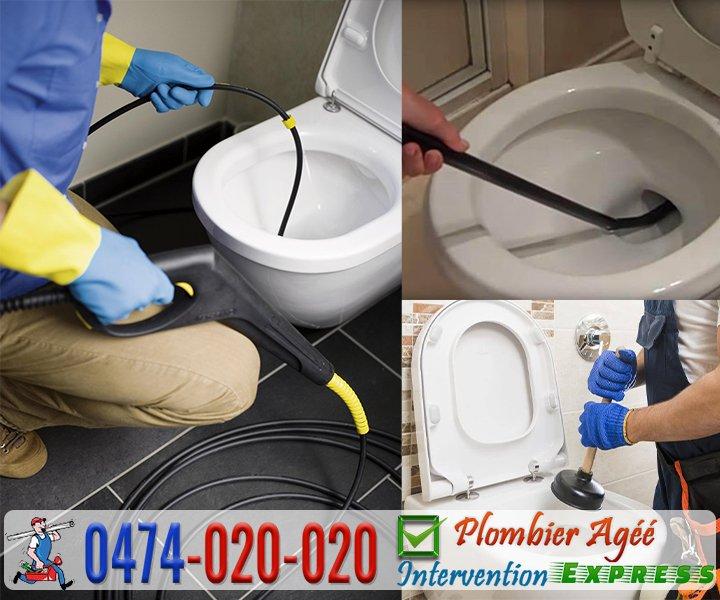 Débouchage canalisation des WC