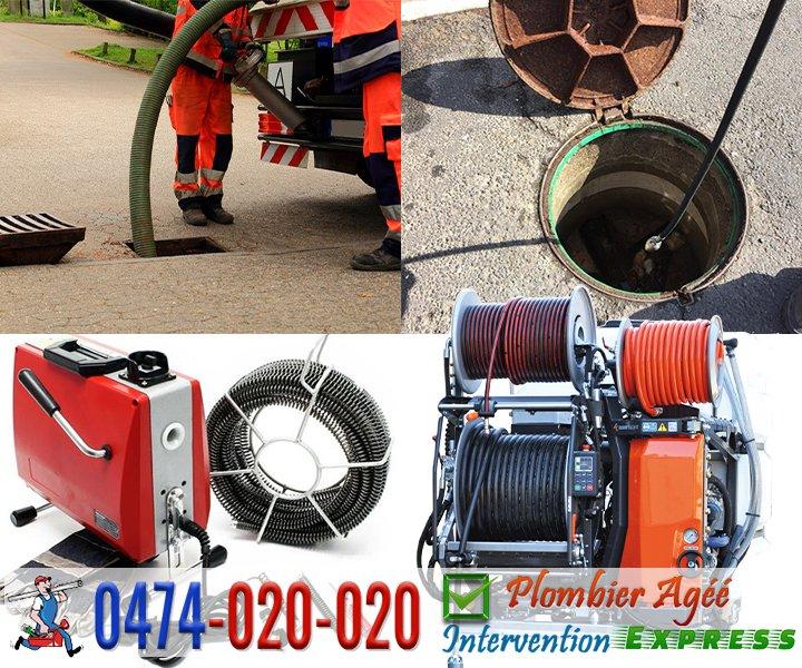 Débouchage de canalisation par furet électrique et à haute pression