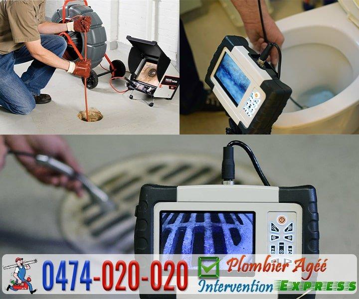 Débouchage canalisation par inspection camera
