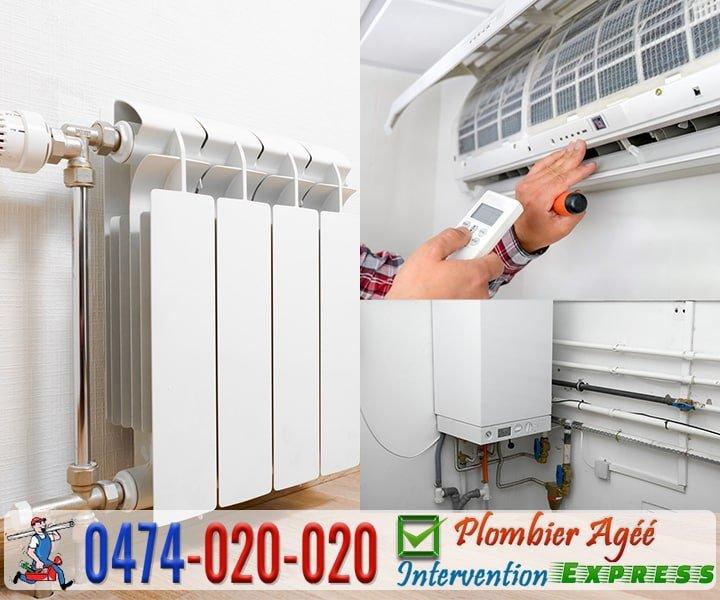 Installation et réparation du système de chauffage et climatisation