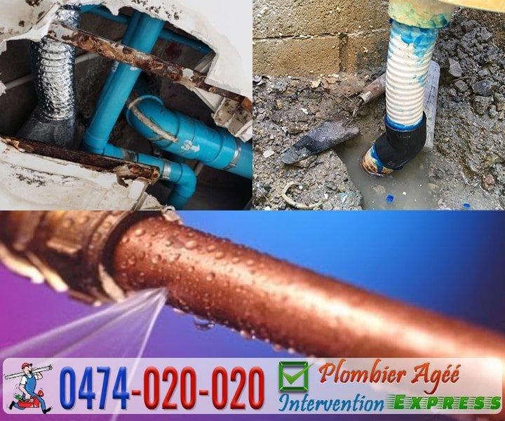 Recherche, détection et réparation de fuite d'eau